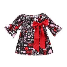 -Toddler Infant Baby Girl Bow Floral Valentine Party Pageant Formal Dress Clothes on JD