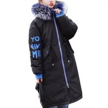 -Roseonmyhand Women Winter Warm Letter Print Outerwear Hooded Coat Slim Cotton-padded Jacket on JD