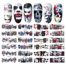 -Halloween Transfer Watermark Nail Stickers Nail Art Self-Adhesive Stickers Decals for Women Girls Kids Manicure DIY or Nail Salon on JD