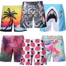 -Men's Boardshorts Surf Board Shorts Swim Wear Beach Sports Trunks Pants Swimwear on JD