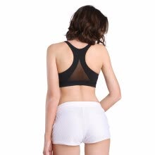 0626718c8b7e0 High Impact Yoga Bras Women Quick Dry Padded Running Bra Triangle Mesh Sports  Bra Push Up Racerback Athletic Vest