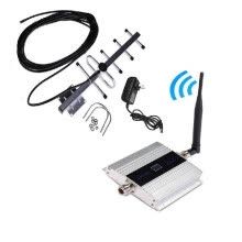 -Mobile Phone GSM Signal Booster GSM Signal Repeater Cell Phone GSM 900MHz Signal Amplifier with LCD Display Yagi Set on JD