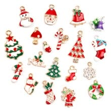 -19pcs/pack Metal Alloy Mixed Christmas Charms Pendants Set DIY Making Accessories Decor Xmas gifts on JD