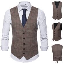-(Toponeto) Men's Fashion Business Casual Wedding Waistcoat Tops Vest  Jacket Top Coat on JD