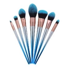 -7pcs Makeup Brushes Set Blue Black Gradient Handle Eyeshadow Lip Powder Makeup Tools Cosmetic Brush Kits on JD