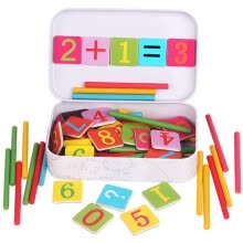-Baby Math Toy Wooden Stick Magnetic Mathematics Puzzle Education Learning Counting Number Toys Calculate Game Kids Gifts on JD