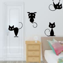 -〖Follure〗DIY Removable Cat Wall Stickers Home Decorative Decal Kids Nursery Baby Room on JD