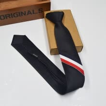 -New Korean three-color strip men's tie British fashion style narrow neck tie custom tie on JD