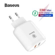 -Baseus QC 3.0 Dual USB адаптер зарядного устройства EU Plug Travel Wall Quick Charge для iphone X 8 Samsung HuaWei on JD