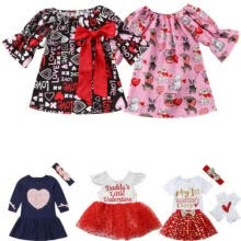 -USStock Toddler Baby Girls Valentine Day Love Printed Party Dress Clothes Outfit on JD