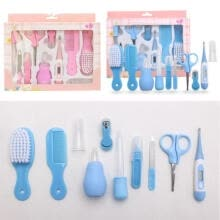 -10pcs Cute Toddler Baby Boys Girls Kids Newborn Health Care Set Nail Hair Brush Thermometer Kids Grooming Kit on JD