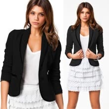 -Roseonmyhand Women Business Coat Blazer Suit Long Sleeve Tops Slim Jacket Outwear Size S-6XL on JD