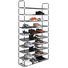 -Shoe Rack 50 Pairs Tower Organizer Cabinet Storage Black / Gray on JD