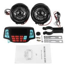 -Muti-functional Motorcycle Speaker Handlebar Audio System BT USB SD FM Radio MP3 Speaker on JD