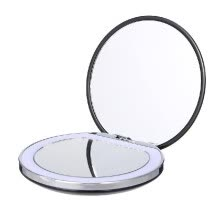 -Cosmetic Mini Portable Pocket LED Makeup Mirror with Light Rechargeable Hand Compact 1X/3X Magnifying Makeup Folding Beauty Mirror on JD