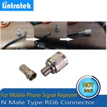 -2pcs N Type Connector Male RG6 For connecting Coaxial Cable For Mobile Phone Signal Booster Repeater Amplifier on JD