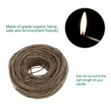 -61m  Organic Hemp Candle Hemp Core with Pure Bee wax for DIY Oil Lamp, Organic Hemp Candle Wick, Candle Core on JD