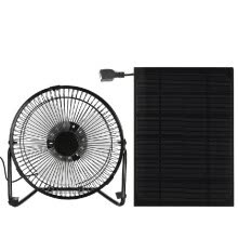 -Black Solar Panel Powered/USB Iron Fan Outdoor Traveling Fishing Home Office Camping Hiking Picnic Barbecue Cooling Ventilation Ca on JD