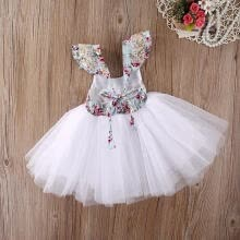-Elegant Baby Girls Floral Tulle Dress Party Gown Formal Bridesmaid Dresses on JD