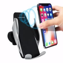 -Automatic Clamping Wireless Car Charger Receiver Mount For iPhone For Android Charging Mount Bracket Multitool Camping Equipment on JD