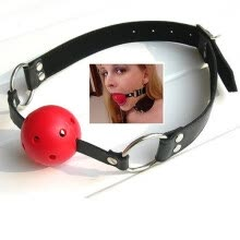-Adjustable Cosplay SM Game Adult Sex Toy Mouth Fetish Restraint Bondage Ball Gag on JD