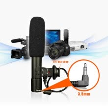 -Mic-01 3.5mm Recording Microphone Digital SLR Camera Stereo Microphone for Canon Nikon Camera Camcorders on JD