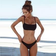 439e4e8ae089f New Sexy Women Bikini Set Swimsuit Push Up Padded Bra High Cut Bottoms  Swimwear Bathing Suits