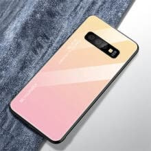 -W_Tempered Glass Phone Case Gradient Color Cover Coque For Samsung Galaxy A50 A70 A10 A7 S10 NOTE 7 on JD