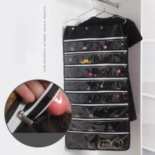 -1Pc Hanging Storage Bag Non-woven Earrings Jewelry Chains Dress Holder Organizer on JD