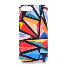 -For iphone 7/8 4.7inch/5.5inch Colorful Lattice Case Anti-scratch PC Back Shell Anti-knock Slim Phone Cover on JD