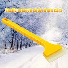 -Long Handle Ice Scraper Rubber Window Snow Squeegee Blade Snow Shovel Car Water Squeegee Auto Film Wrapping Tools on JD
