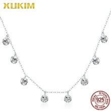 -SNM807 Xukim Jewelry 925 Sterling Silver AAA Zricon Stone Charm Necklace Gold Necklace on JD