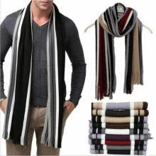 software-New Mens Cashmere Scarf Winter Warm Soft Fringe Striped Tassel Long Shawl Wrap on JD