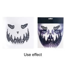 -Halloween Resin Jewelry Stickers Removable Face Gems Stickers Funny Tattoo Stickers For Festival Party Costume Decorations on JD
