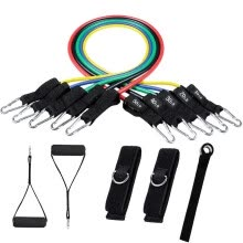 -Resistance Band Set Include 5 Stackable Exercise Bands With Door Anchor Ankle on JD