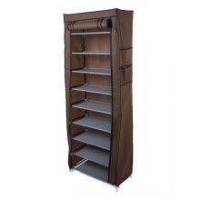 -Single Row Dust-tight Shoe Cabinet Non-woven Fabrics Shoe Rack Organizer Minimalist Furniture Boots Storage Shelves on JD