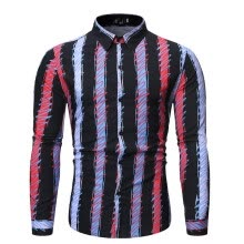-New Style For Men In Autumn And Winter Fashion Printed Long Sleeve Shirt Blouse on JD