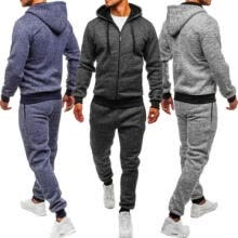 -Men's Tracksuit Jogging Hoodie Coat Jacket +Trousers Pants Sports Sweat Suit Set on JD