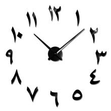 -New Arrival Creative 3D Wall Clock Modern Design Wall Clocks DIY Wall Sticker Unique Gift Home Decoration on JD