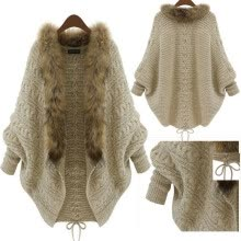 jackets-Newest Women Knitted Cardigan Bat Sleeves Coat Sweater Coat Women's Clothing on JD