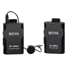 -Boya (BOYA) BY-WM4 SLR camera 5D2 6D mobile radio broadcast interviews microphone professional recording lapel wheat black on JD