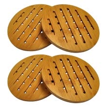 coasters-Organic Moso Bamboo Collection Heavy Duty Trivet Set 4 on JD