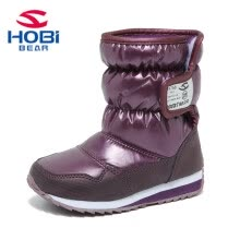 527c490083185 HOBIBEAR Girls Winter Boots Boys Genuine Kids Shoes Fur Lining Warm  Waterproof Non-slip Snow Baby Beatiful Children shoes A757