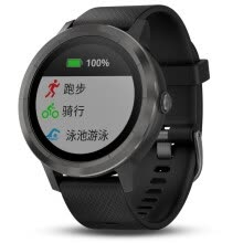 -Jia Ming (GARMIN) vivoactive 3 smart sports GPS optical heart rate watch PVD coating mobile payment real-time monitoring Bluetooth calls reminder then empty black on JD