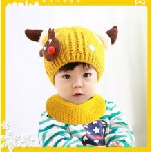hats-caps-Christmas Baby Beanie For Boys Girls Cap Cotton Hat Children Deer Print Hats Hot on JD