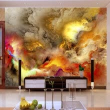 -Modern Abstract Art Wallpaper 3D Colorful Clouds Photo Mural Wall Paintings Gallery Restaurant Cafe KTV Bar Creative Home Decor on JD