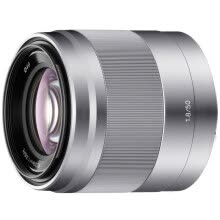 -Sony (SONY) E 50mm F1.8 OSS APS-C frame fixed focus lens silver (SEL50F18) on JD