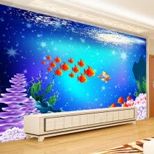 -Fashion Creative Cartoon Underwater World Background Wall Decoration Living Room Children Room Custom Wall Mural Wallpaper Roll on JD