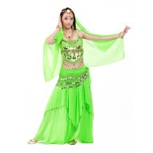 belly dance costume professional 5 piece(head chain+bra+veil+waist  chain+skirt) belli dancer free size sexy costumes free ship 754e8b63550b