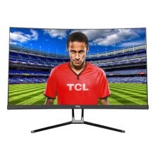-TCL T24M6CG 23.6 inch 144Hz high refresh rate 1800R supports FreeSync synchronization technology game gaming surface display on JD